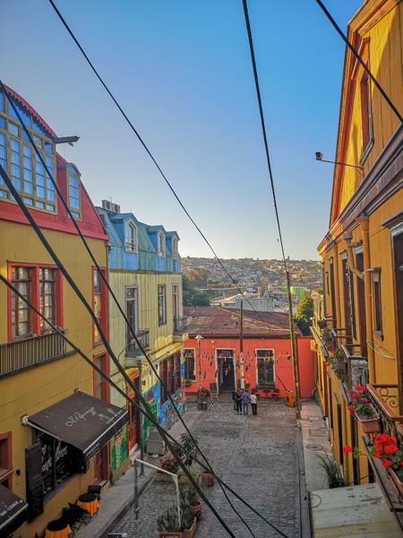 Les Rues Colorées De Valparaiso