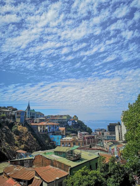 Vue Panoramique De La Ville De Valparaiso