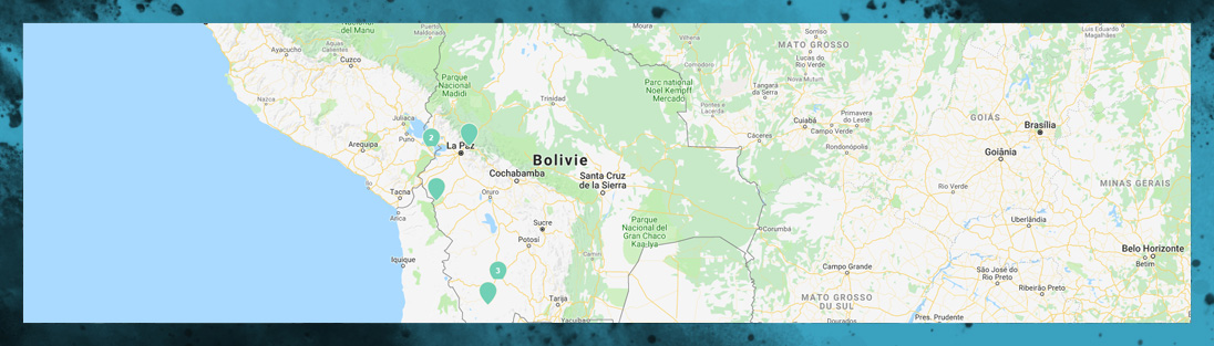 Carte de notre voyage en Bolivie