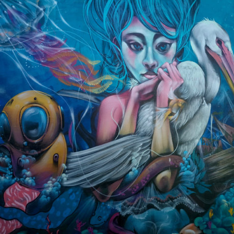 Postshow Street Art à Valparaiso Pendant Le Volontariat