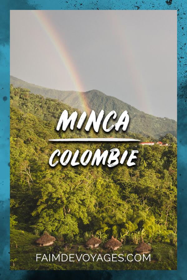 Vue sur un village indigène Kogui à Minca En Colombie