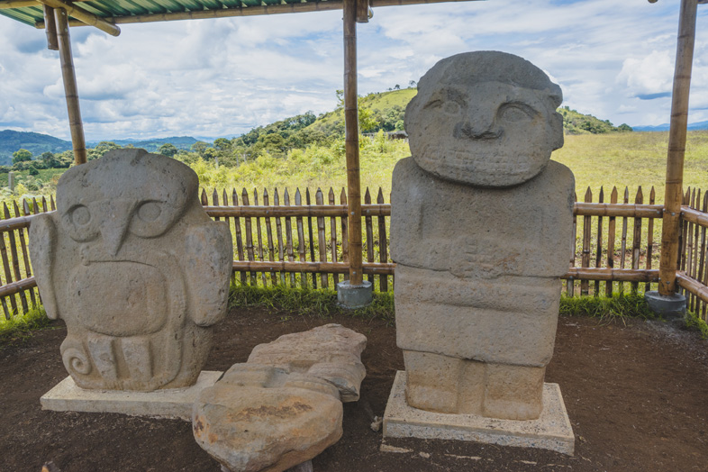 Statue De La Pelota Site Archéologique De San Agustin