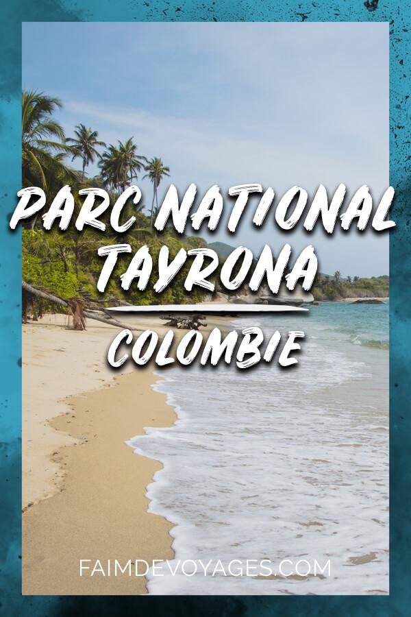 Plage dans le Parc National Tayrona en Colombie