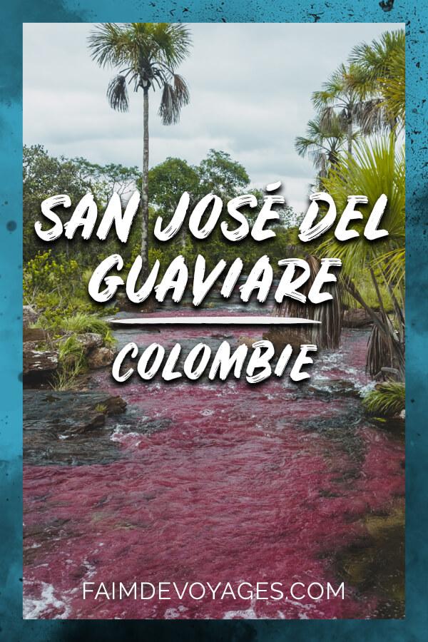 Caño Sabana, la rivière rose à San José Del Guaviare en Colombie