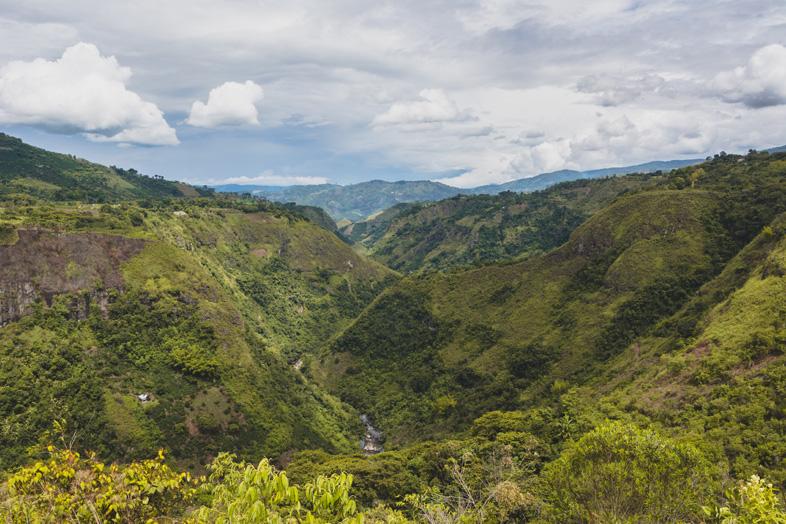 Canyon Du Rio Magdalena A San Agustin En Colombie