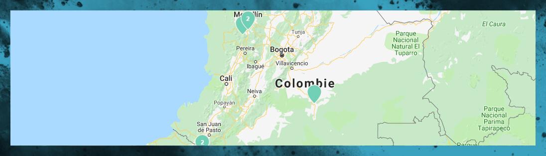 carte touristique de notre voyage en Colombie