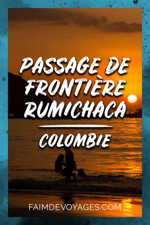Passage Frontiere De Frontière Entre La Colombie Et L'equateur