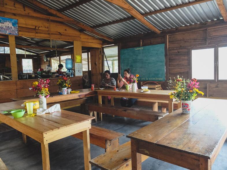 Salle Commune Du Volontariat A Tsomanotik Au Mexique Dans Le Chiapas
