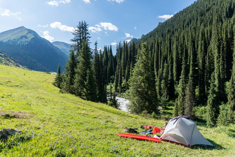 Campeurs Au Kyrgystan Ala Kul