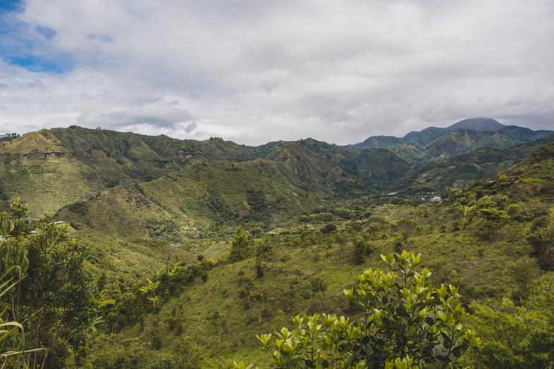 Vue Depuis L'alto Del Duende à Tierradentro En Colombie