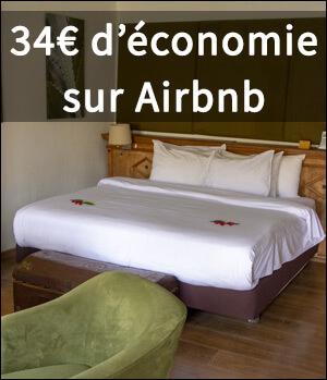 Réduction de 34€ avec Airbnb