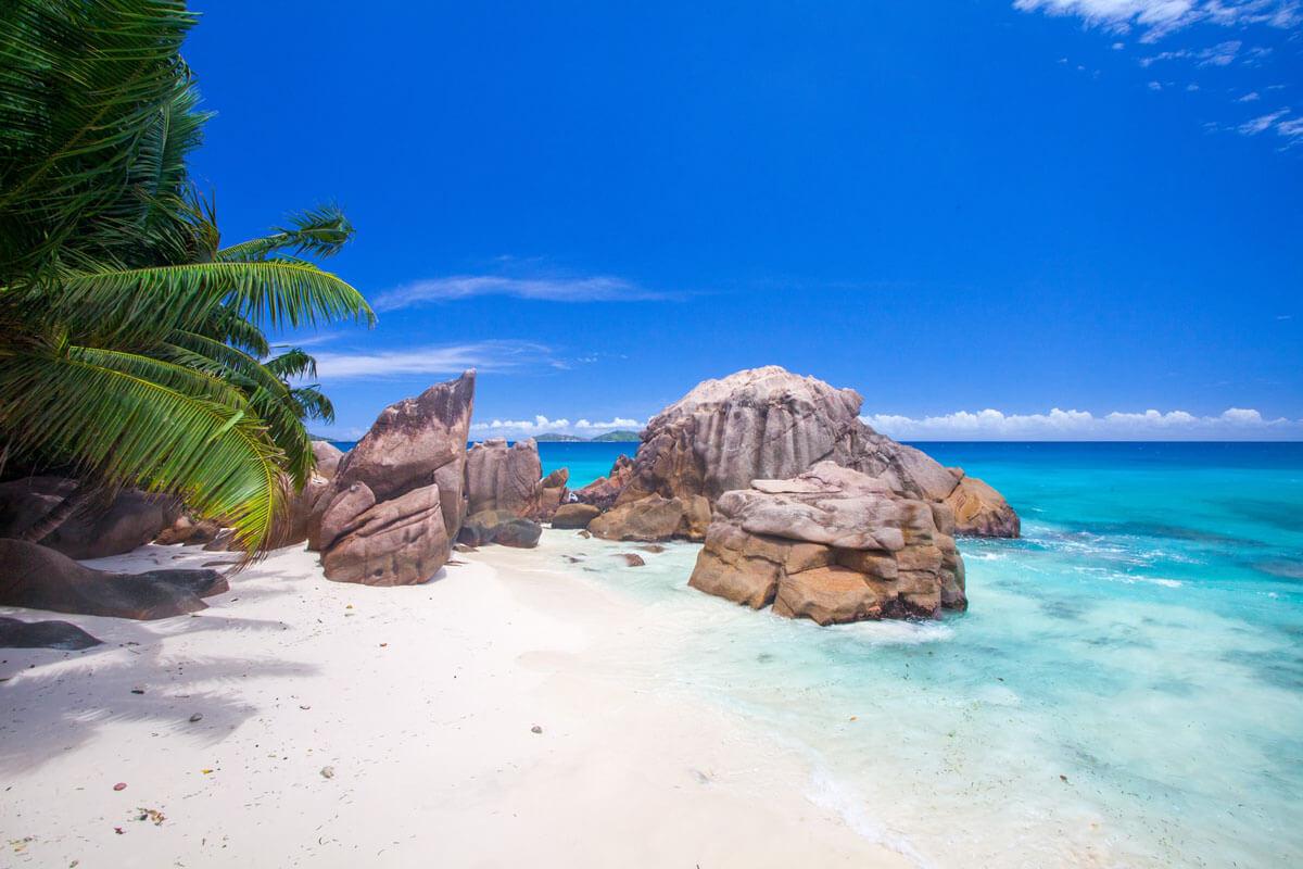 Plage Des Seychelles Sable Blanc Granit