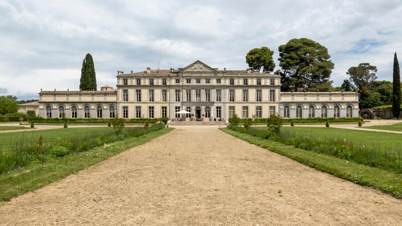 Vue Du Chateau De Pennautier En Occitanie